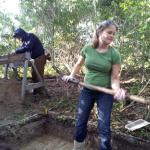 Board Member, Maggie Dawson, and Warren McMaster in the trenches during the Thanksgiving 2012 Dig.
